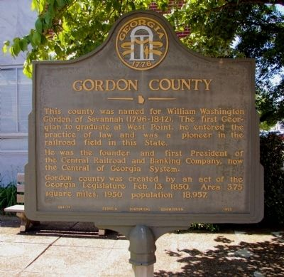 Gordon County Marker image. Click for full size.