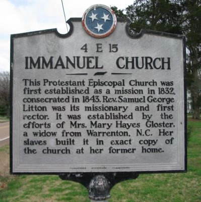 Immanuel Church Marker image. Click for full size.