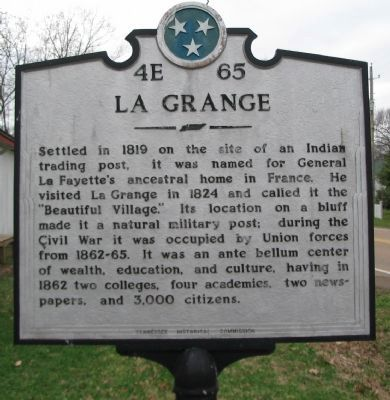 La Grange Marker Photo, Click for full size