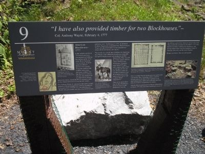 American Blockhouse Marker image. Click for full size.