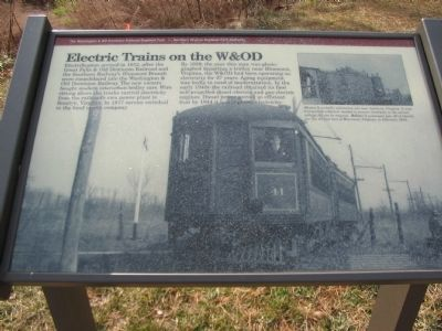 Electric Trains on the W&OD Marker Photo, Click for full size