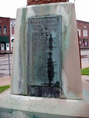 Right Plaque - - Owen County (Indiana) War Memorial Marker image. Click for full size.