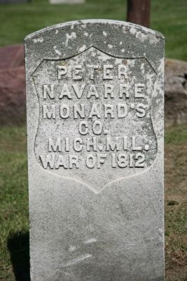 Peter Navarre Gravestone image. Click for full size.