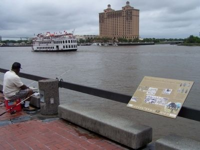 Native Americans on the Georgia Coast Marker as seen along the Savannah River image. Click for full size.