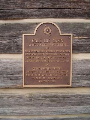 Ogle Cabin Marker Photo, Click for full size