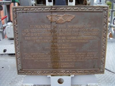 The Armed Forces from Clyde Town-ship Marker image. Click for full size.