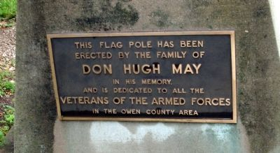Flag Pole Plaque Photo, Click for full size