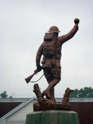 "The ""Spirit of the Doughboy"" bids farewell - - - Photo, Click for full size"