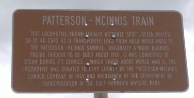 Patterson-McInnis Train Marker Photo, Click for full size