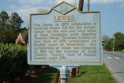 Lewes Marker image. Click for full size.