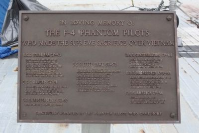 The F-4 Phantom Pilots Marker Photo, Click for full size