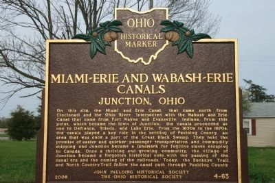 Miami – Erie and Wabash – Erie Canals Marker image. Click for full size.