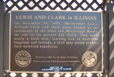 Lewis and Clark in Illinois Marker Photo, Click for full size
