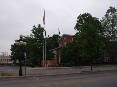 South / West Corner - - Morgan County Indiana Courthouse image. Click for full size.