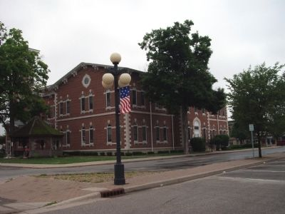 South / East Corner - - Morgan County (Indiana) Courthouse image. Click for full size.