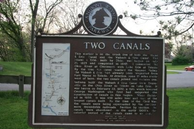 Two Canals Marker Photo, Click for full size