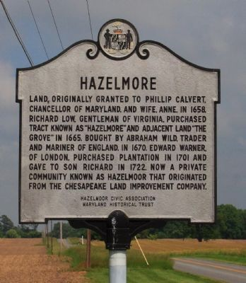 Hazelmore Marker Photo, Click for full size