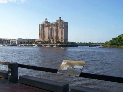 Crossing the Savannah Marker, as seen riverside Photo, Click for full size
