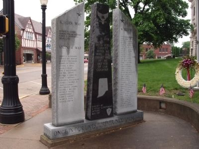 Back Wide View - - Hendricks County War Memorial Photo, Click for full size