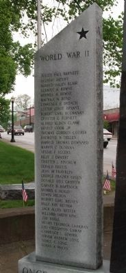 Front Left Panel - - Hendricks County War Memorial Photo, Click for full size