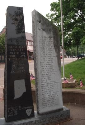 Back Center & Right Panel - - Hendricks County War Memorial Photo, Click for full size