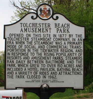 Tolchester Beach Amusement Park Marker Photo, Click for full size