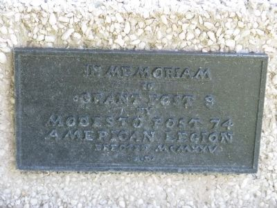 Marker at Base of Obelisk Photo, Click for full size