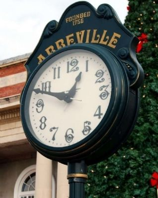 Abbeville City Clock Face image. Click for full size.