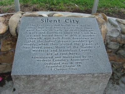 Silent City Marker image. Click for full size.