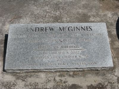 Andrew McGinnes Marker Photo, Click for full size