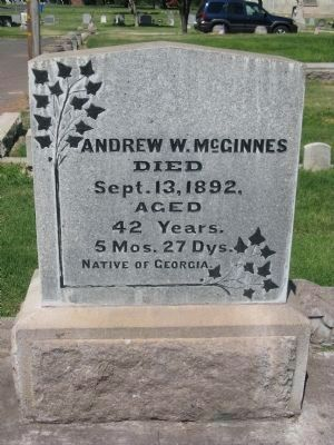 Andrew McGinnes Headstone Photo, Click for full size