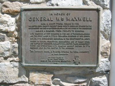 General William Maxwell Marker image. Click for full size.