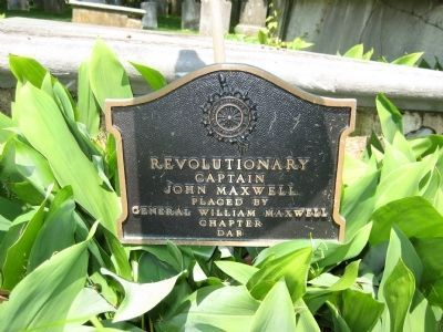 Captain John Maxwell Graveside Plaque image. Click for full size.