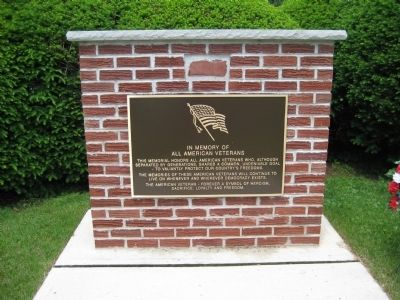 Greenwich Township Veterans Monument Photo, Click for full size