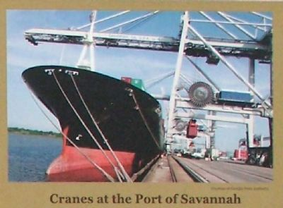 Shipping in the Port of Savannah Marker image. Click for full size.