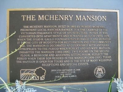 The McHenry Mansion Marker image. Click for full size.