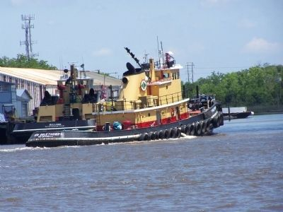 Port of Savannah Tug, as mentioned on Marker image. Click for full size.