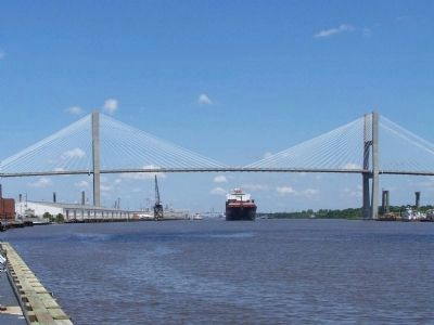 Crossing the Savannah , Talmadge Bridge Photo, Click for full size