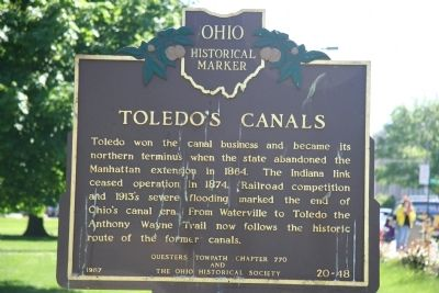 Toledo�s Canals Marker Photo, Click for full size