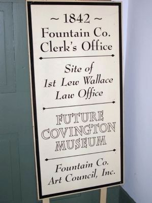 2001 Sign - - Fountain County Clerk's Building image. Click for full size.