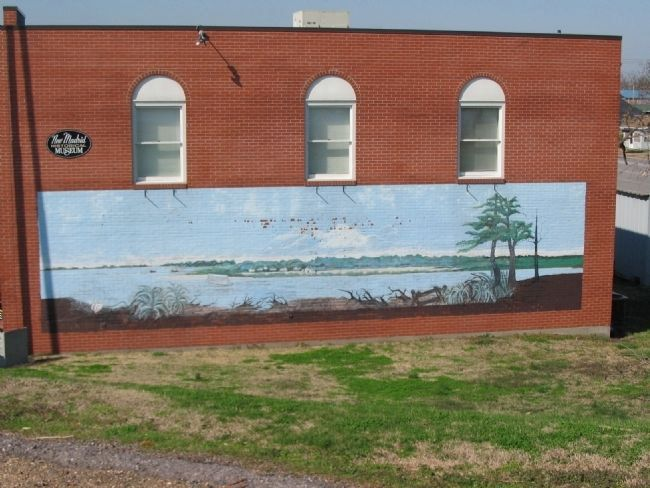 River Mural on New Madrid Museum image. Click for full size.