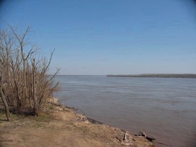 Looking Upriver from the Marker Loction Photo, Click for full size