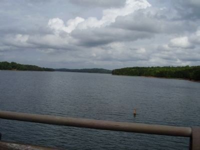 View from the bridge of Lake Hartwell image. Click for full size.