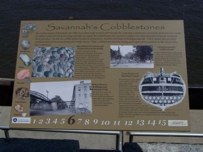 Savannah's Cobblestones Marker image. Click for full size.