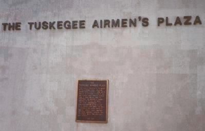 The Tuskegee Airmen's Plaza Marker Photo, Click for full size