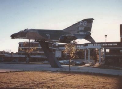 USAF F-4C Phantom (433rd TFS) in the Tuskegee Airmen's Plaza Photo, Click for full size