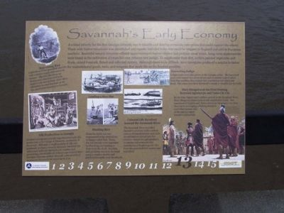 Savannah's Early Economy Marker image. Click for full size.