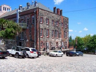 Savannah's Cobblestones used as building materials, as mentioned. image. Click for full size.