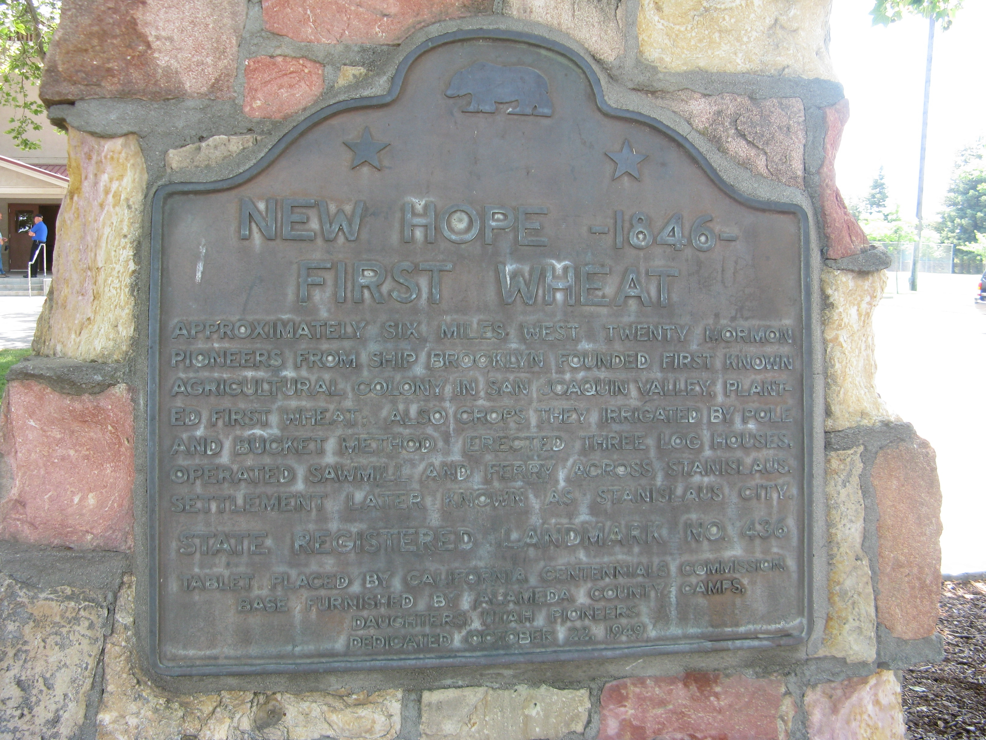 New Hope – 1846 Marker