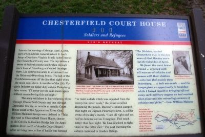 Chesterfield Court House CWT Marker image. Click for full size.
